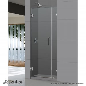 "Dreamline SHDR-20237210F Unidoor 23"" Frameless Hinged Shower Door"