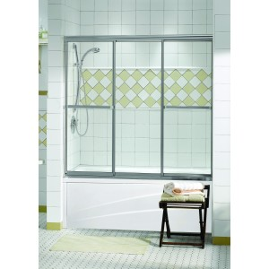 "Maax Tub Shower 1/4"" Triple Plus 3-panel 52 1/2 "" x 56 "" Sliding door"