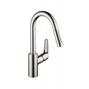 Hansgrohe Focus 2-Spray HighArc Prep Kitchen Faucet (Pull-Down)