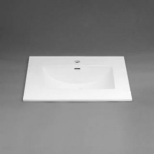"RonBow 212231-1-WH 31"" Single Hole Ceramic Lavatory Top with Integrated Sink Fits 22"" Depth Cabinets in White"