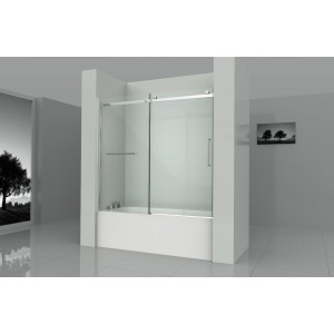 "Art Of Bath Tub Door D6063-01-CL ,Clear 5/16"" Glass Door in Chrome Finish"