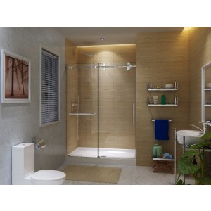 "Art Of Bath Shower Door K6079 , Clear 3/8"" Glass Door"